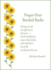 Prayer Over Bended Backs Soul Card