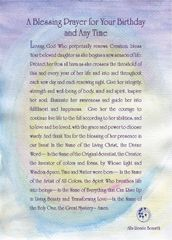 A Blessing Prayer for Your Birthday and Any Time - For Her - Full Page