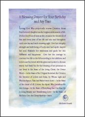 A Blessing Prayer for Your Birthday and Any Time - For Her - Soul Card