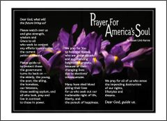 Prayer for America's Soul in a Bed of Irises