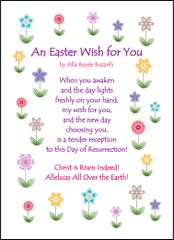 An Easter Wish for You Soul Card