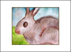 Wild Bunny - Watercolor