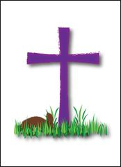 Easter Cross with Bunny