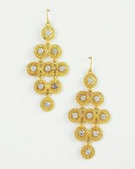 Gold Tone Chandelier Fish Hook Earrings