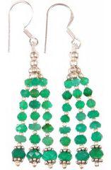 Green Onyx Earrings in Chandelier Style