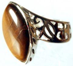 Tiger Eye Marquis Ring 6.5