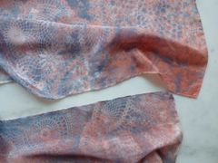 Flat Crepe Silk Scarf Hand Dyed Lace Patterns