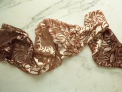 Silk Satin Devore Scarf Hand Dyed Ombre in Beautiful Browns