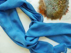 """Silk/Wool Blend Scarf """" Blue Jay"""""""