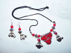 Red Tribal Belly Dance Necklace