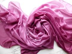 Silk Veil 5mm Cranberry Ombre 3 Yard Silk Belly Dance Veil