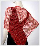 Red or Black Beaded Shawl, Hip Scarf