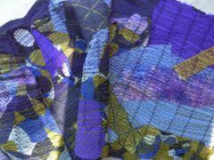 Silk Art Scarf Artist Original Quilted Silk Scarf