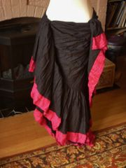 Black Cotton 25 yard Skirt with Satin Trim