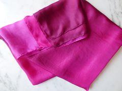 Silk Belly Dance Veil pink ombre 5mm, Petite 3 yard