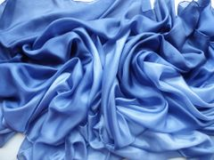 Silk Belly Dance Veil Blue Ombre Silk Dance Veil