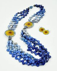 Flower Power Long Necklace and Earrings