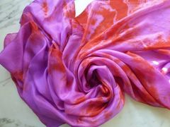 Silk Dance Veil 5mm 4 yrd Purple Pop and Blazing Orange