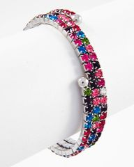 Spiral Multi Colored Rhinestone Bracelet