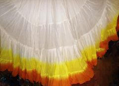 25 Yard Gypsy Skirts, White with Dip Dye Bottoms