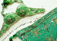 Satin and Sequin Belly Dance Bra and Belt sets Choose your color!