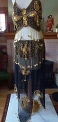 Black and Gold Belly Dance Costume