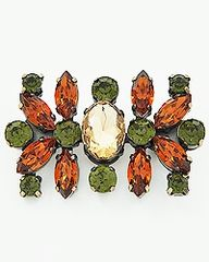 Green and Topaz Brooch