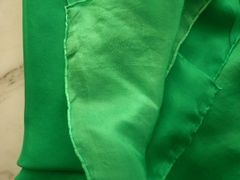 Silk Belly Dance Veil 5mm 3 yard Kelly Green Ombre