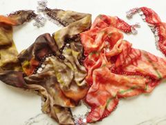 Triangle Coin Scarf Single row of Silver Coins, Earth Tones or Red
