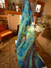 Half Circle Silk Belly Dance Veil 5mm Semi Circle Veil