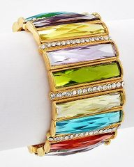 Multi Colored Stretch Bracelet