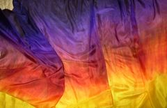 Silk Belly Dance Veil ,California Sunset II, 3 yard Veil, 5mm