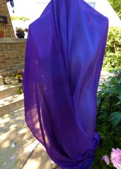 Silk Belly Dance Veil Royal Purple and Cool Purple. 5mm, 3 Yard