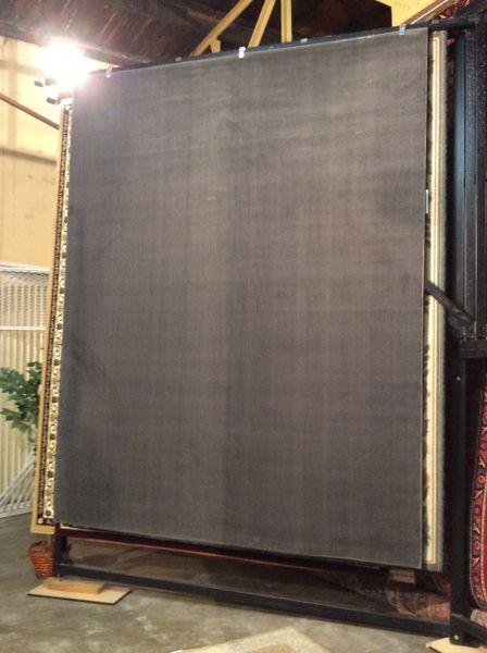 8x11 Machinemade Solid Grey Rug
