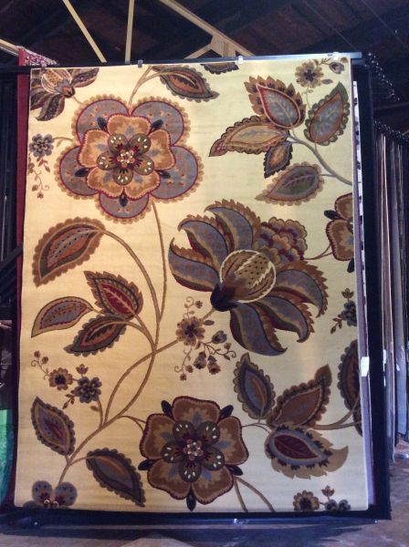 Floral Transitional 8x11 machine-made rug