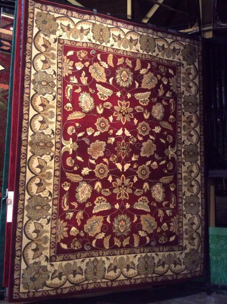 Burgundy persian all over pattern 8x11 machinemade