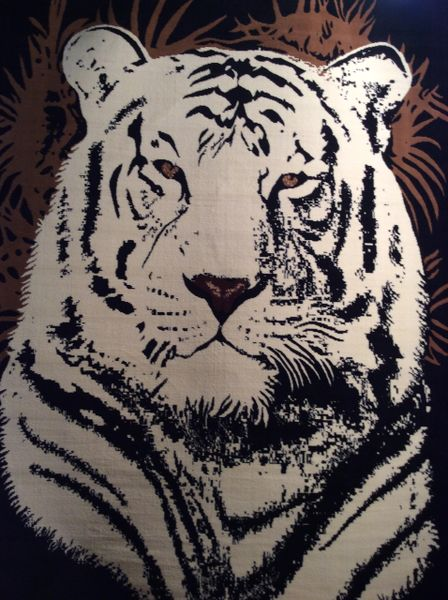 Animal pattern tiger man made 8x11
