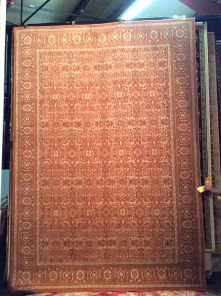 Subdued Rust Antique Persian Design 8x11 Machinemade Rug