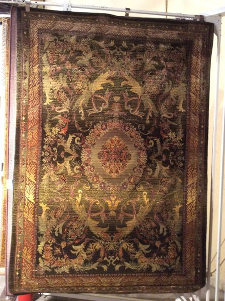 Olive Aubusson Tea Wash design 4x6 machine made rug