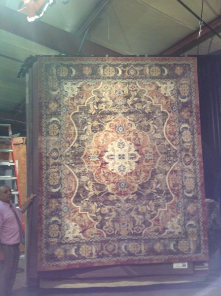 Rust and Brown Persian Design Machinemade 8x11 Rug