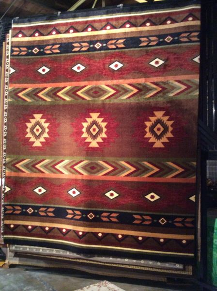Aztec tribal pattern 8x11 machine-made rug.sold out