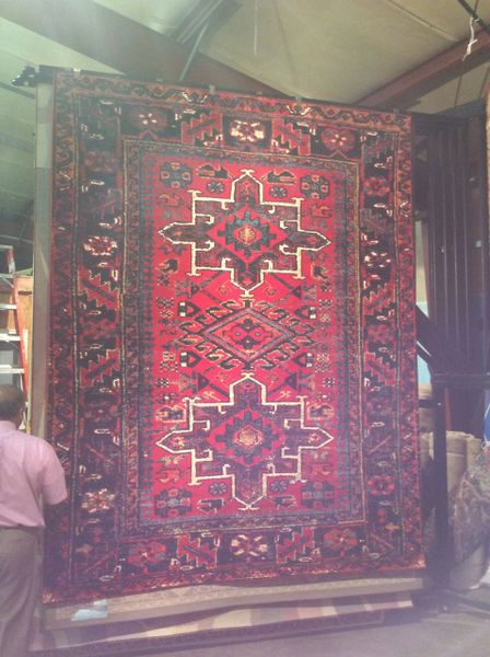 Red Persian Heriz Design 8x11 Machinemade Rug