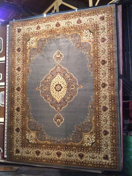 Open-field persian Kerman design 8x11 machine made rug.sold out