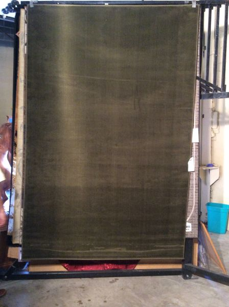 Solid Sage green machine made rug.thid color sold out