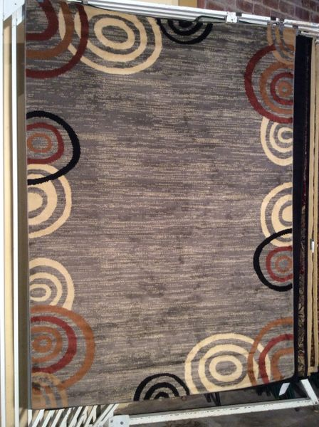Contemporary gray 5x8 machine made rug.sold out