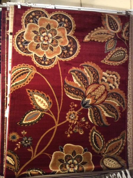 Floral transitional 5x8 machine-made rug.sold out