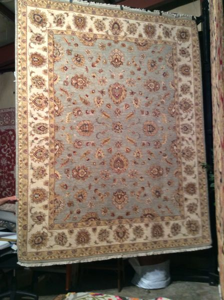kashan dsign all over pattern hand made 8x10