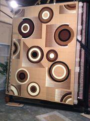 Creme circles 8x11 Rug