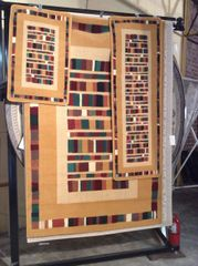 3 piece-set multi-colored machine-made rugs
