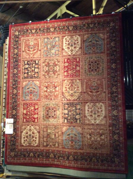 Bakhtiari Persian panel design Karastan 8x10 machine made rug.sold out